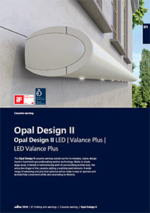 Opal Ii the traditional cassette awning