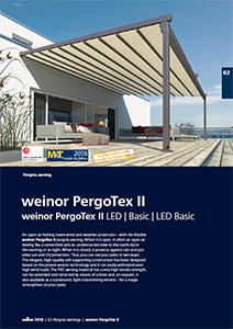 Pergotex II the pergola awning brochure