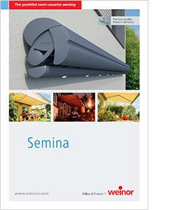Semina semi cassette awning