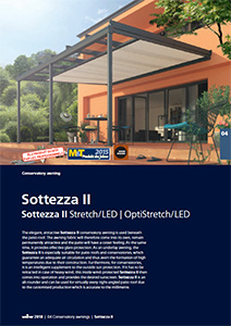Sotezza II the under-mounted conservatory / patio roof awning brochure