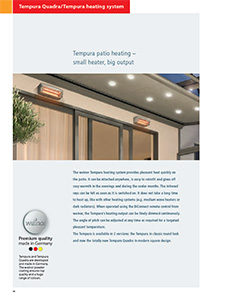 Tempura Patio Heating technical brochure
