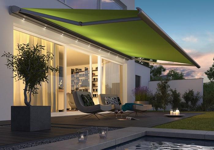 LED lighting for awning