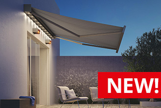 Kubata full cassette folding arm awning
