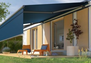 Livona open awning with Valance Plus