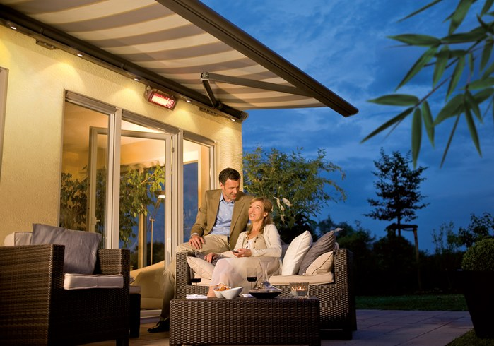 integrated LED lighting for awning