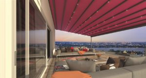 Pergotex II retractable patio roof