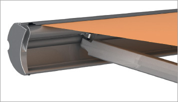 integrated rain gutter