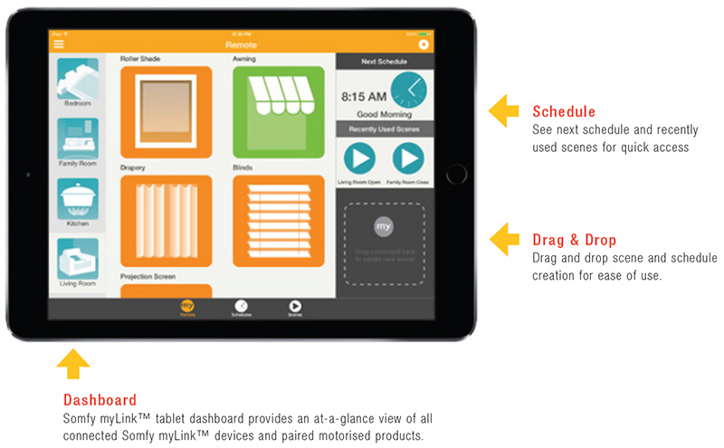 somfy myLink for ipad