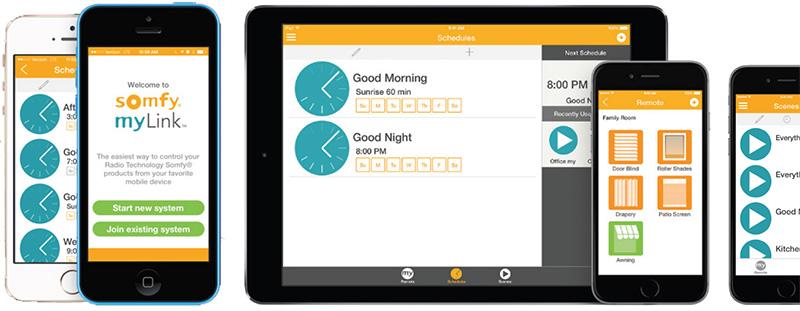 somfy myLink app