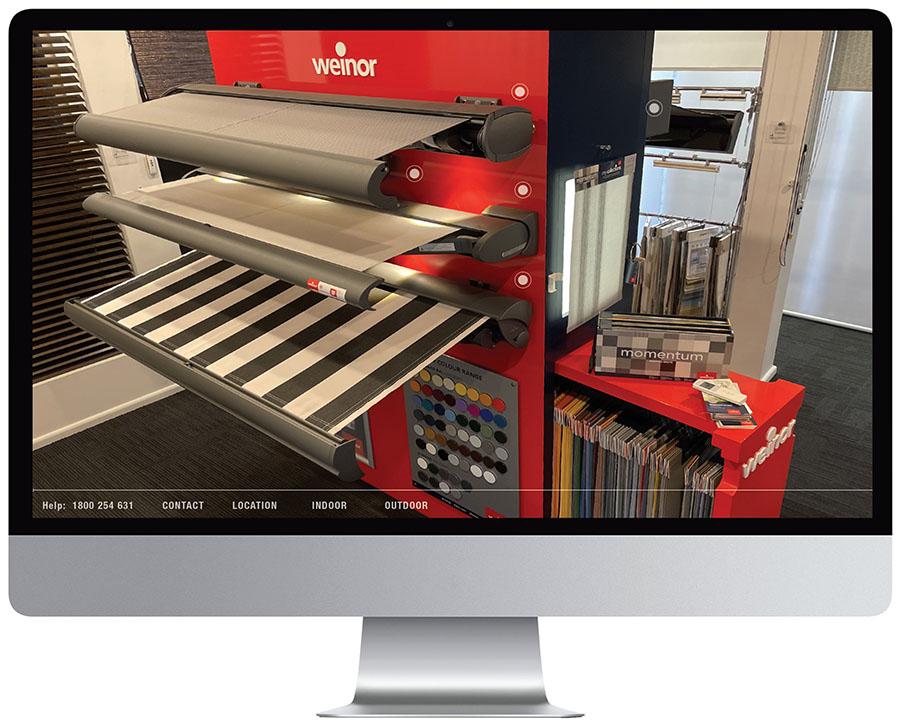 Weinor virtual showroom