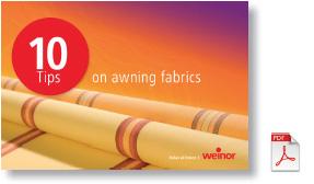 weinor fabric tips