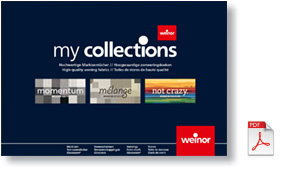 Weinor My Collections fabrics brochure